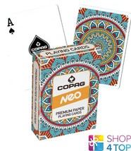 COPAG NEO MANDALA POKER PLAYING CARDS DECK JUMBO INDEX NEW - $8.90