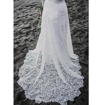 Sexy Low Open Back Scoop Neckline, Long Sleeve White Lace Wedding Dress image 4