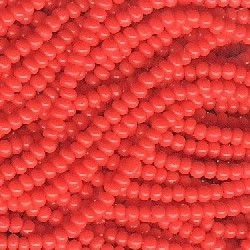 Seed bead rocaille full hank red 4