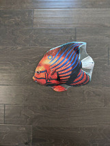 "16"" Orange Garibaldi FISH aqua 3d cutout retro USA STEEL plate display ad Sign - $60.76"