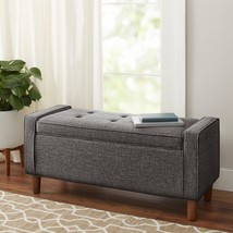 Better Homes and Gardens Flynn Mid Century Modern Upholstered Storage Be... - $151.49