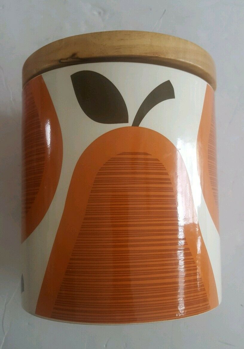 ORLA KIELY Stoneware Scribble Pear MED Canister/Storage Container Jar