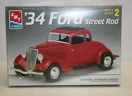 1934 Ford Street Rod AMT ERTL 1:25 6686 Model Kit Factory Sealed - $39.59