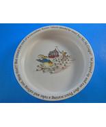 "Wedgwood  Peter rabbit Etruria Barlaston Child Bowl Beatrix Potter 6"" di... - $11.87"