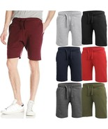 Mens Fleece Sweat SHORTS Casual Cotton Jogger Classic Fit Gym Athletic P... - $13.29+