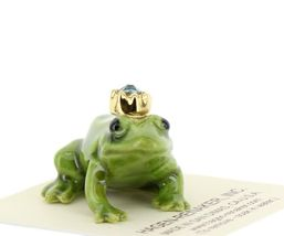Birthstone Frog Prince March Simulated Aquamarine Miniatures by Hagen-Renaker image 6