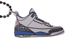 Good Wood NYC True Blue III 3's Sneaker Necklace White/blue Shoes
