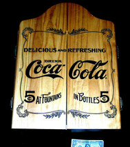 1993 Coca Cola Coke 5c Bottles Fountains Display Sign Dart Board Cabinet... - $165.58