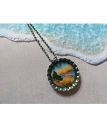 3D One-Of-A-Kind Beachy Bottle Cap Necklace (Sunrise) - $6.00