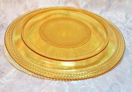 VINTAGE AMBER PLATE WITH HOBNAIL DESIGN - 2 SIZES TO CHOOSE FROM image 2