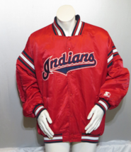 Cleveland Indians Jacket (VTG) - Satin Script by Starter - Men's 2XL - $175.00
