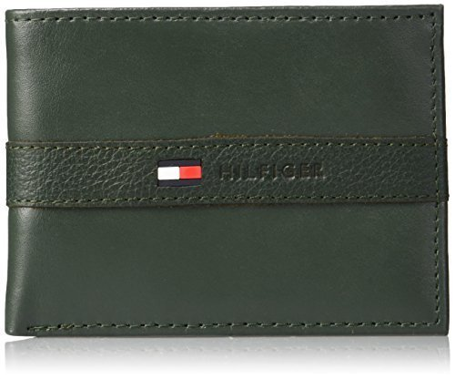Tommy Hilfiger Men's Ranger Leather Passcase Wallet with Removable Card Holder,G