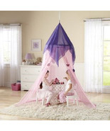 Princess Pink Canopy Girls Play Set Hang Bedroom Bed Tent Fort Preschool... - $41.26