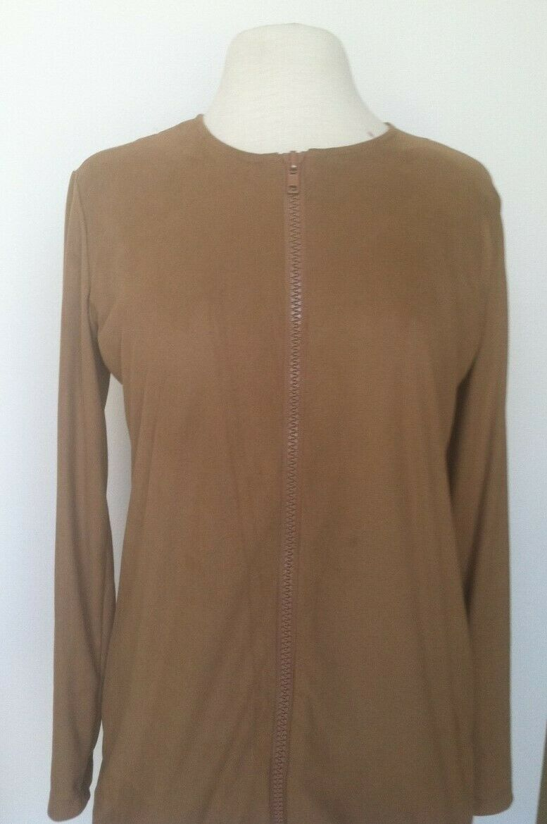 Tan Golf Micro-Suede Stylish Jacket - New - GoldenWear