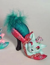 Katherine's Collection Pink and aqua cat shoe pin cushion - $29.99