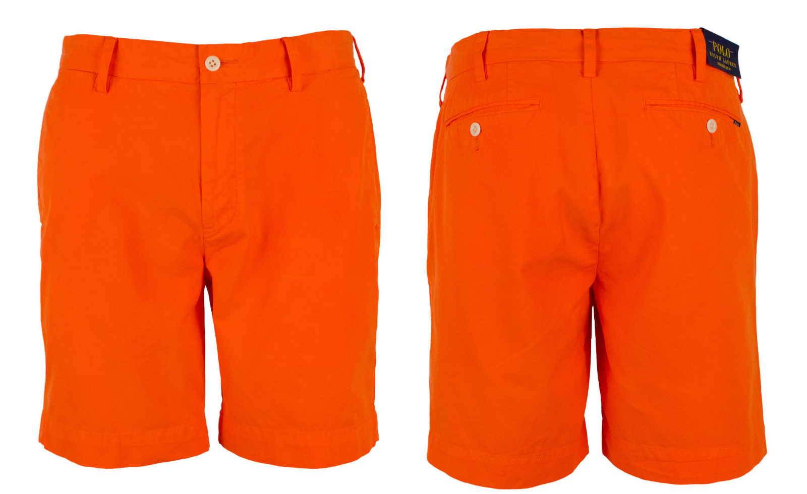 "$99 Polo Ralph Lauren Men's Straight Fit 8"" Chino Shorts, Neon Orn, Size 38"