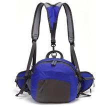 Waterproof Backpack Shoulder Waist Fanny Bag Sports Camping Hiking Blue - $305,39 MXN