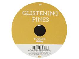 JoAnn's Glistening Pines Ribbon, Gold Branches, 25 Feet image 2