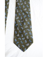 100% Silk Vintage Feraud Neck Tie - Green, Blue Printed in Italy Made in... - $19.79