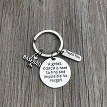 Baseball Coach Keychain, Baseball Gift, Great Coach is Hard to Find - $10.00