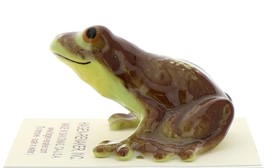 Hagen-Renaker Miniature Ceramic Frog Figurine Brown Frog with Curious Grin image 3
