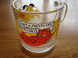 McDonald's Garfield coffee cup glass Odie 1978 collect - $4.27