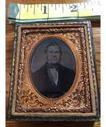 Daguerreotype of Rich Older Man Suit & Bow Tie in Half Case 1839-50!  - $75.00
