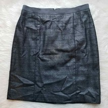 Ann Taylor LOFT Metallic Black Pencil Skirt 10 - $11.30