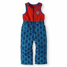 NWT Spiderman Size Small 6 / 8 Skye Snowsuit Snow Pants Bibs Red Overalls Fleece - $21.77