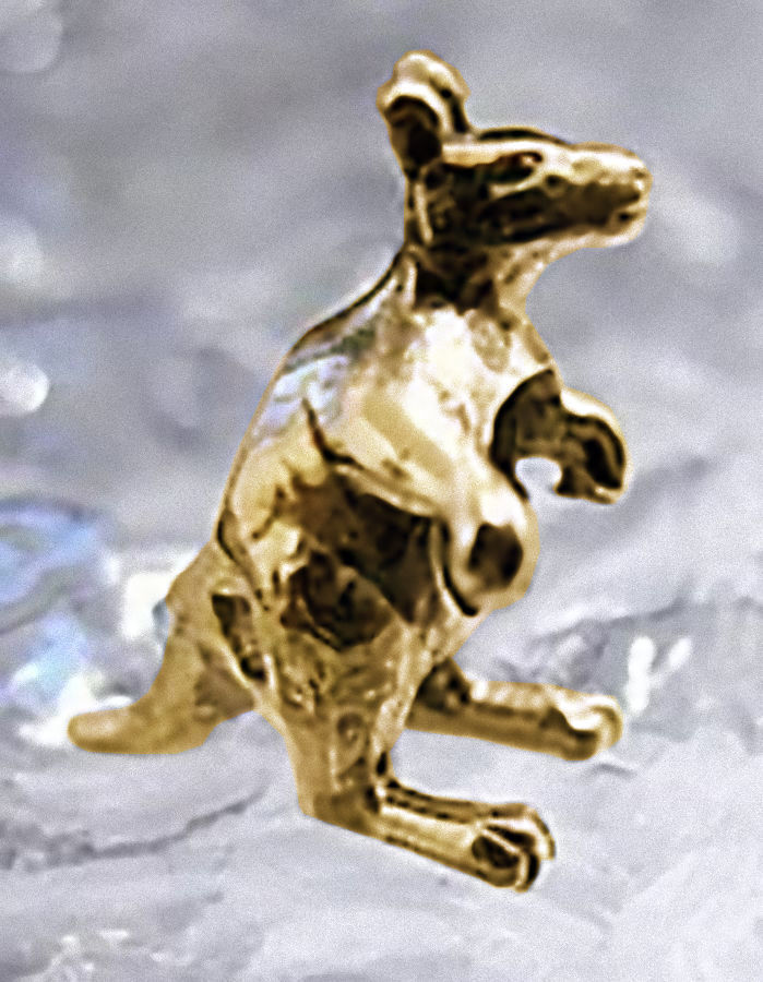 Primary image for Kangaroo Charm European bead jewelry Gold Plated on Sterling Silver 925 Jewelry