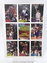 1993-94 Fleer Baskeball Cards Uncut Sheet Pippen Rivers Kemp Hardaway Coleman - $5.89