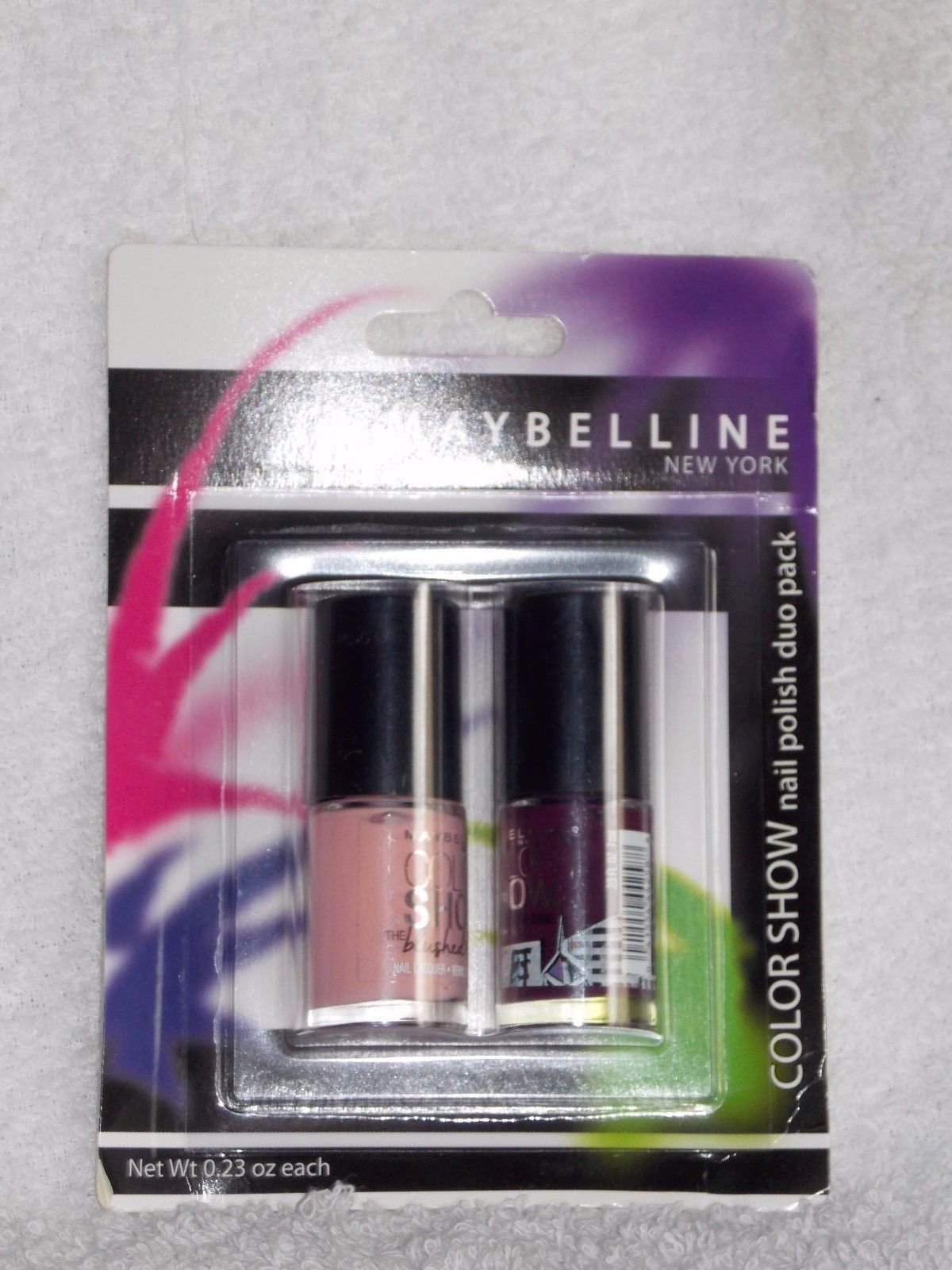 Maybelline Color Show CHOOSE YOUR COLOR Nail Polish Duo .23 oz New