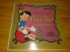 Vintage LP Record WALT DISNEY 1949 PINOCCHIO NARRATED BY JIMINY CRICKET - £3.24 GBP