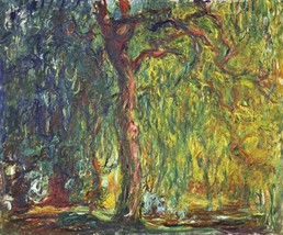Weeping Willow Painting by Claude Monet Art Reproduction - $32.99+