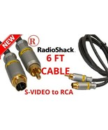 6-FT S-Video to RCA Phono Cable Radio Shack Gold Plated TV DVD A/V Recei... - $6.83