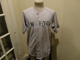 Vtg  Majestic New York Yankees Sewn MLB Baseball Gray Polyester Jersey A... - $49.45