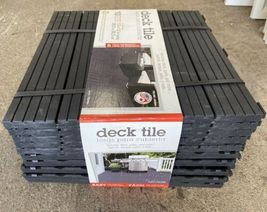 "NEW 10 Pack Multy Home Black Balcony Patio Deck Tiles 12"" x12"" 10 sqft Drainage image 3"