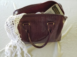 Wine Colored Purse/Tote Bag  - $30.00