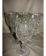 Set of 8  American Brilliant Period Cut Glass Water Goblets  - $149.00
