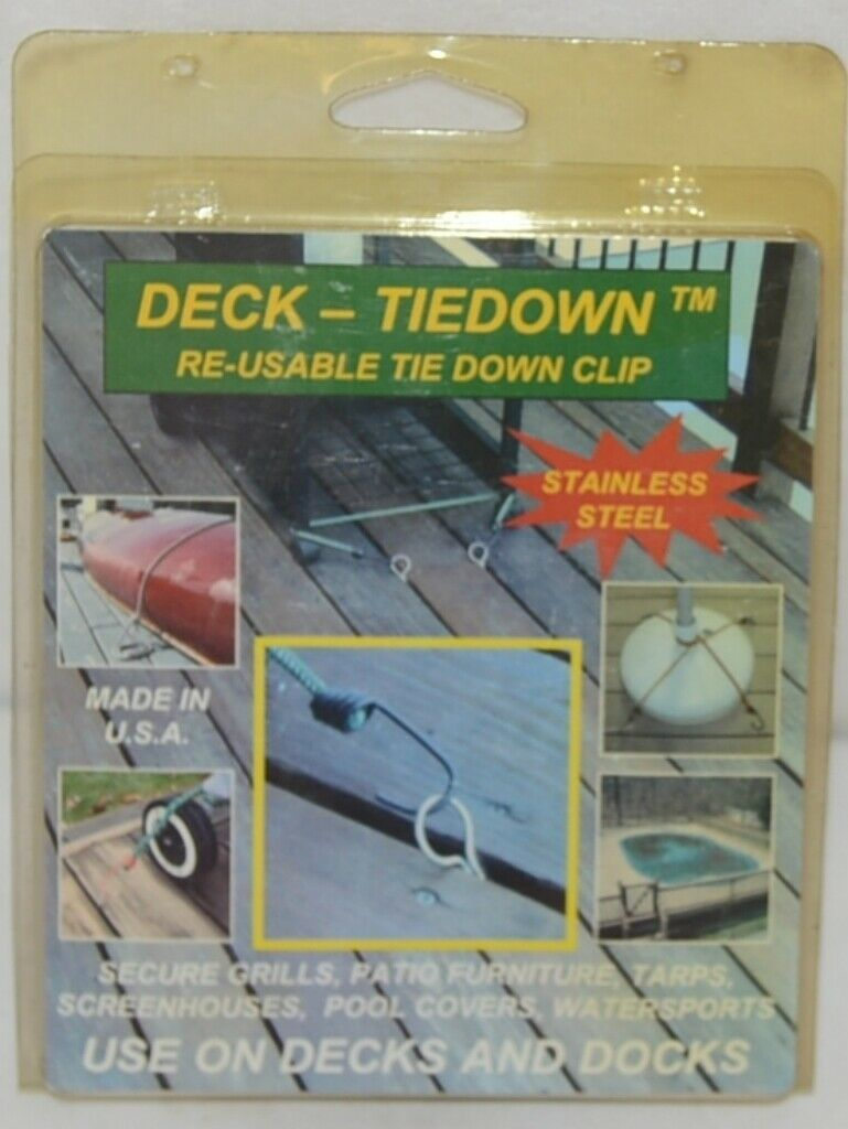 Deck TieDon Re Usable Tid Down Clip Stainless Steel Use On Decks