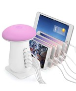 Onlt charging station 5 port usb charger smartphone and table lamp led - $113.32