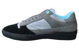 WeSC Mens Black Dark Shadow Gray Turquoise Emerson Stash Graffiti NY Shoes image 4