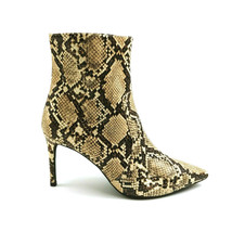 Jeffrey Campbell Womens Khalees Ankle Boots Brown Snake Print Zip Sz 10 NEW - $59.36