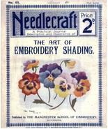 Needlecraft: The Art of Embroidery Shading #55  - 1905 Antique  book - D... - $3.50
