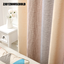 White Silk Cotton Hemp Color Gradient Shading Printing Water Waves Curta... - $155.00