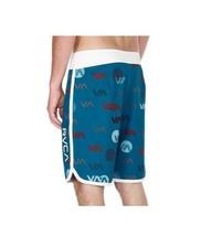 NWT Men's Boardshorts Size 28 RVCA VA Jazz Trunks with Pocket Blue Teal ... - $34.64
