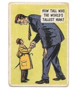 Isolation Booth Trading Card #1 Topps 1957 How Tall Was The World's Tall... - $2.99