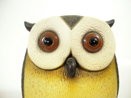 Harvey Knox Kingdom Owl Hand Painted Figurine Figure House Global Art Japan  image 3