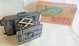 Vintage 1940s Art Deco Spartus Folding Camera S-500 In Original Box B341 - $32.53