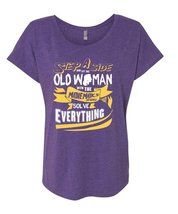 Let The Old Woman With The Mathematics Degree T Shirt, Job T Shirt (Ladies' Trib - $27.99+